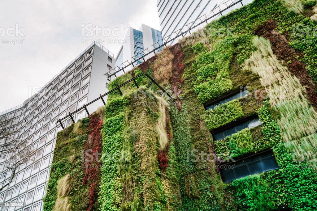 Ecologic building Architecture in São Paulo, Brazil stock photo