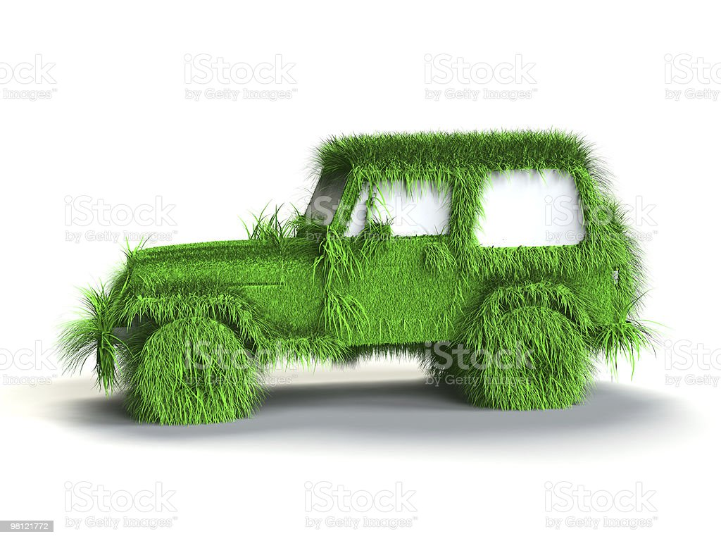 Ecologic verde auto foto stock royalty-free