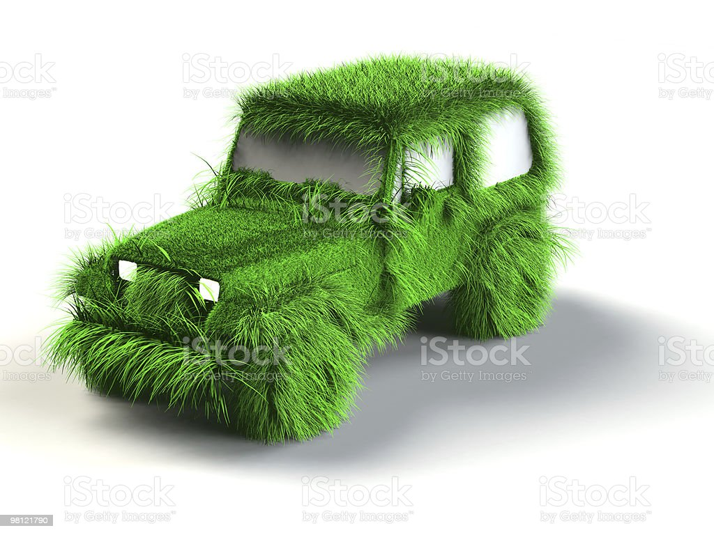 Ecologic green car royalty-free stock photo
