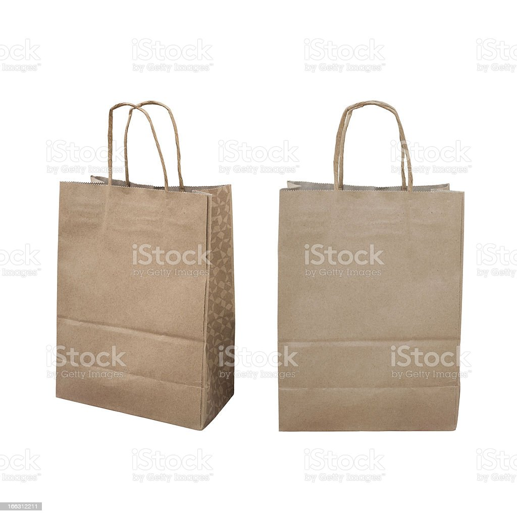 Ecological brown paper recycling bag royalty-free stock photo