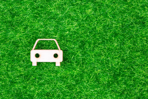 Ecological concept clean car, hybrid or electric car using a green energy stock photo
