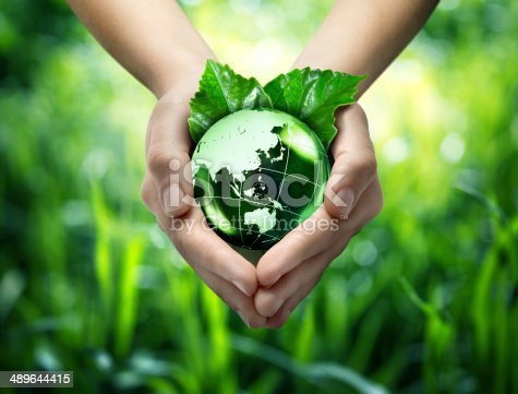 istock ecological concept - protect world's green - Orient 489644415