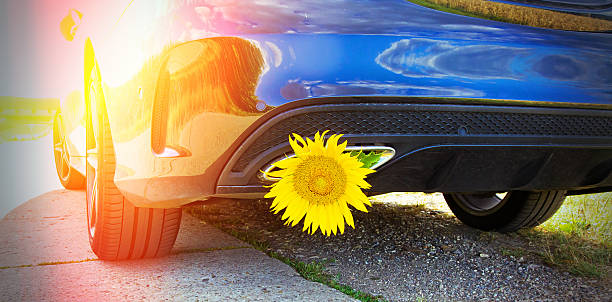 ecological driving - auto a combustibile alternativo foto e immagini stock