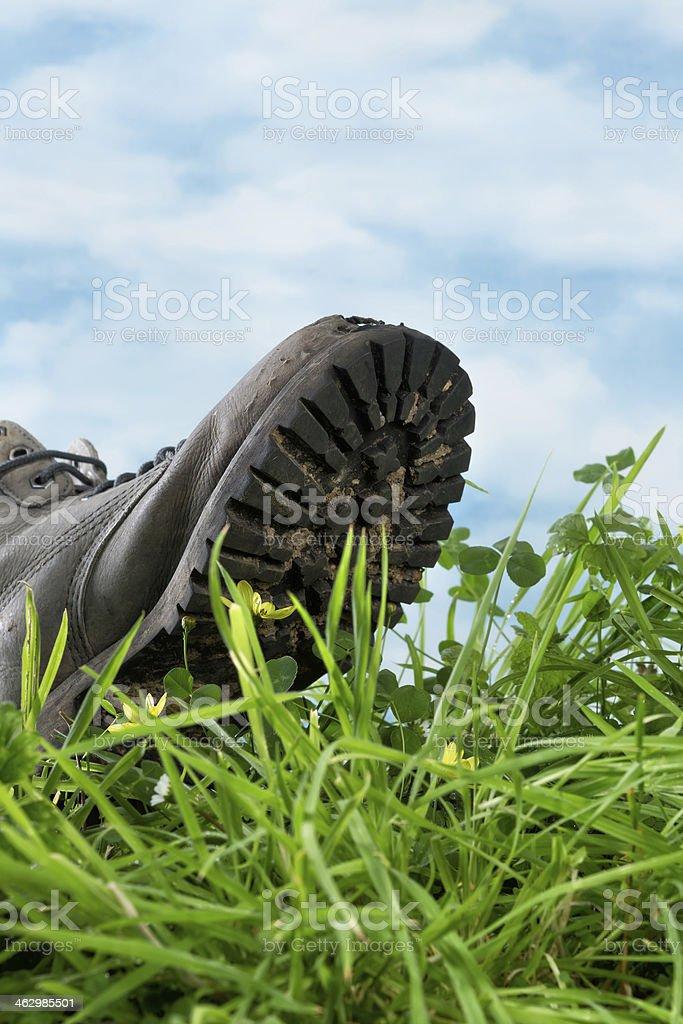 Ecological footprint stock photo