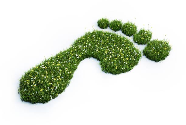 Ecological footprint symbol stock photo stock photo