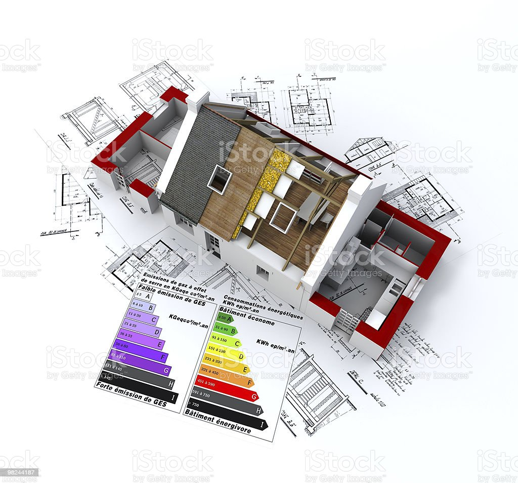 Ecological house project royalty-free stock photo