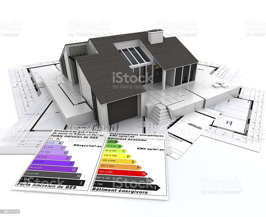 ecological housing project royalty-free stock photo