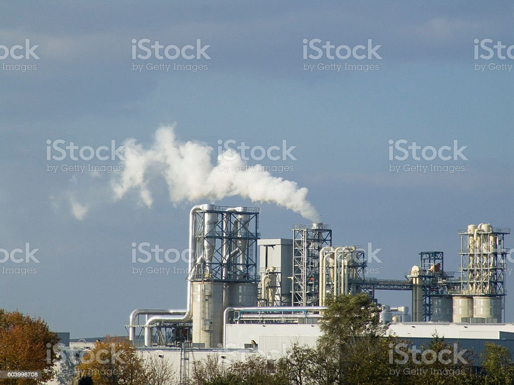 Ecological pollution stock photo