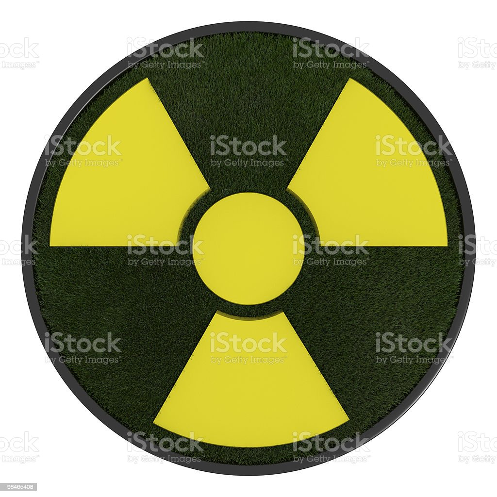 3D ecological radioactivity symbol royalty-free stock photo