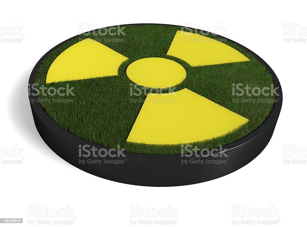 3D ecological radioactivity symbol royalty-free stock photo