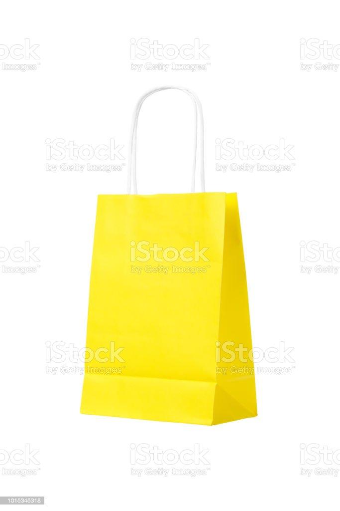 styles divers vif et grand en style meilleure vente Photo libre de droit de Sac Shopping Jaune Isolé Sur Fond ...