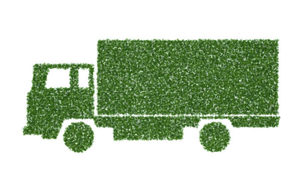 Ecological Truck stock photo