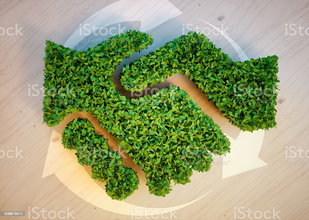 Ecology agreement concept stock photo