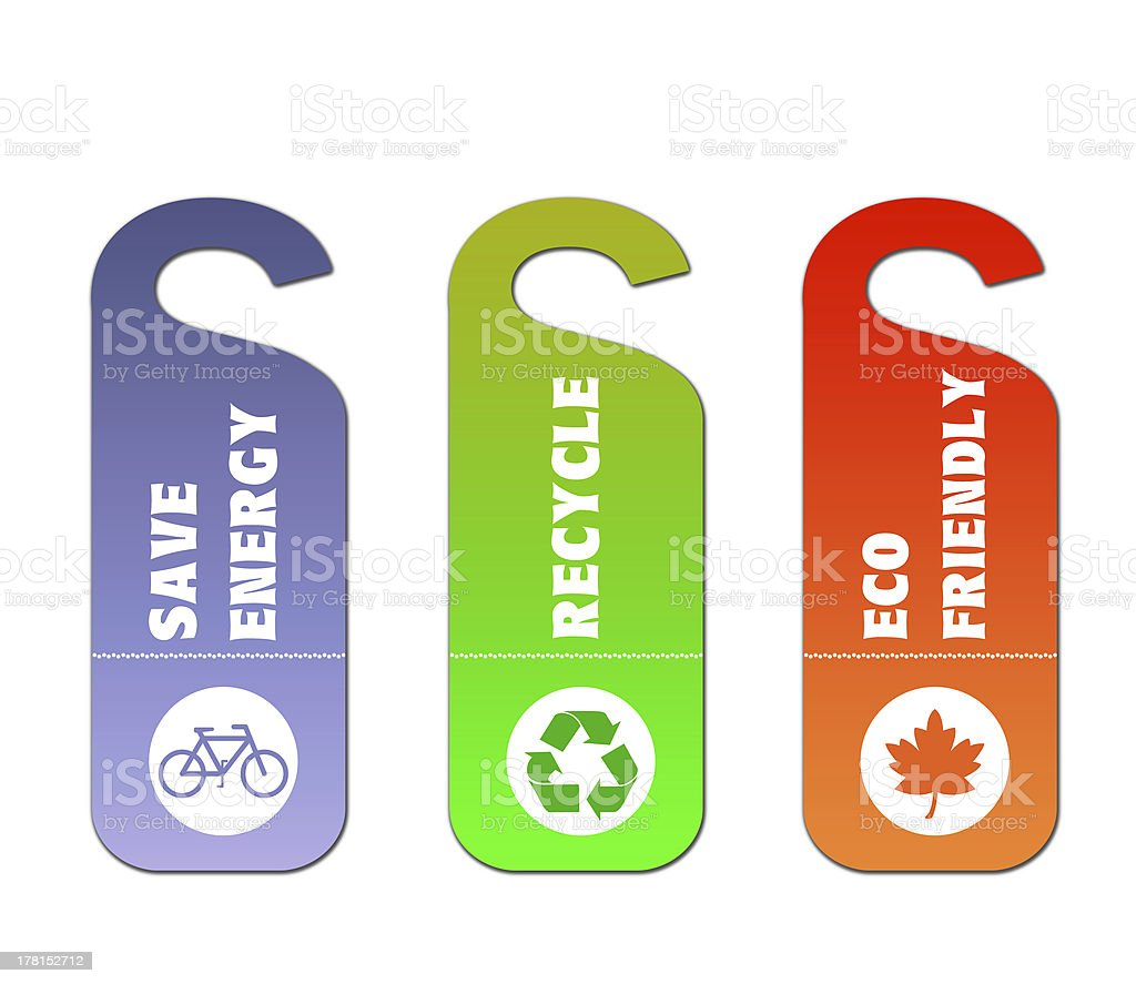 Ecology and recycle tags for environmental design royalty-free stock photo