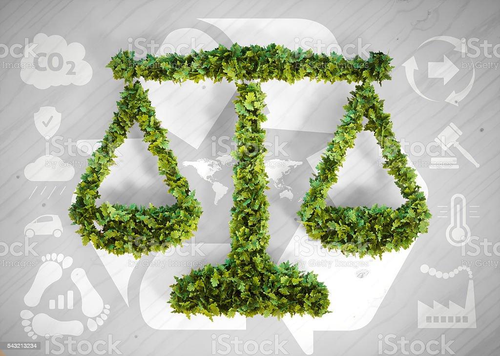 Ecology balance Lizenzfreies stock-foto