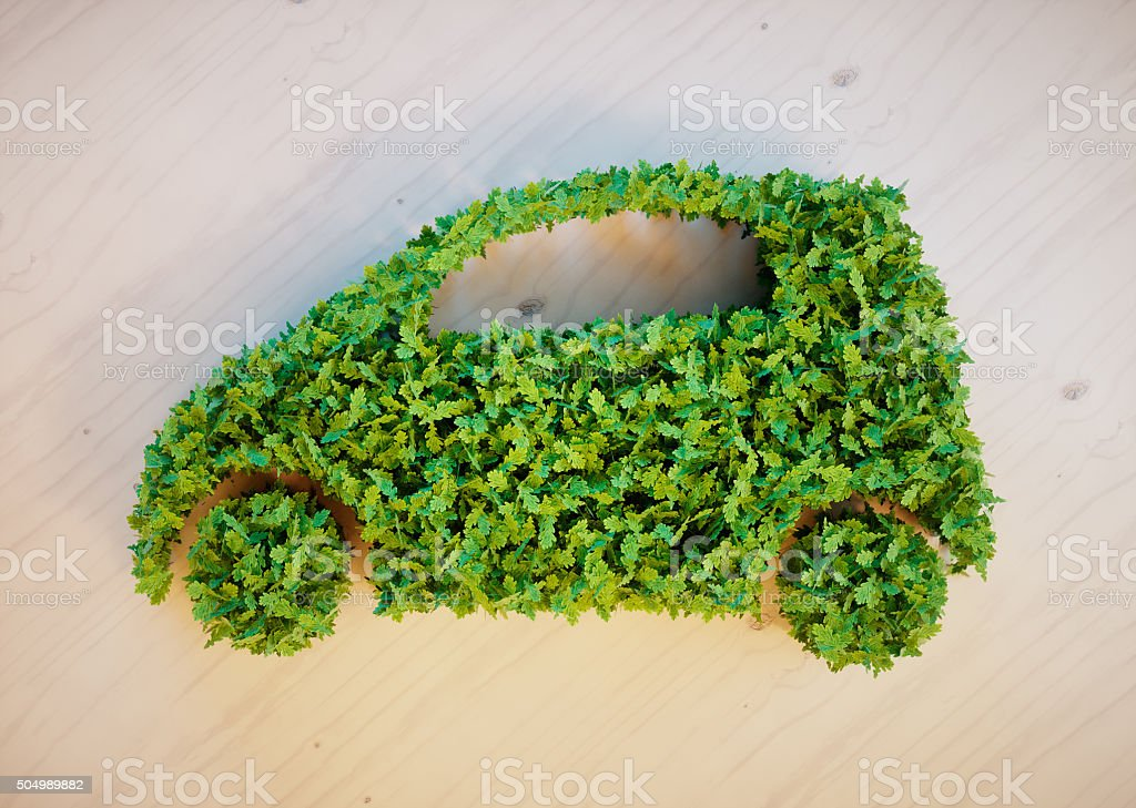 Ecology car concept stock photo