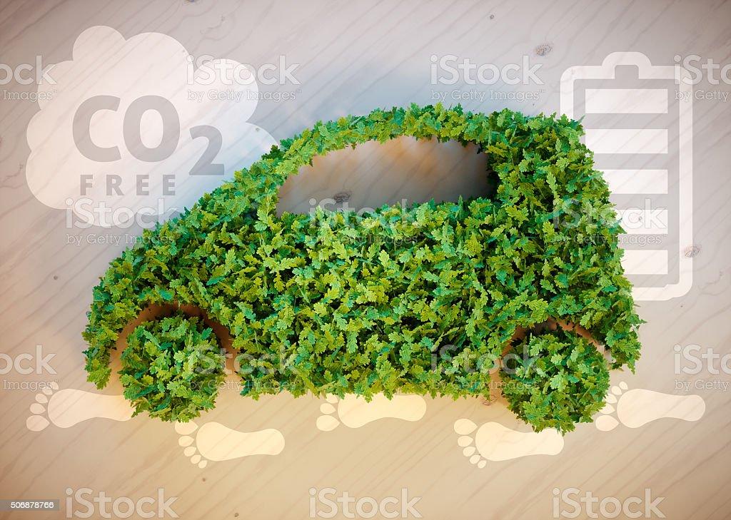 Ecology car concept stock photo