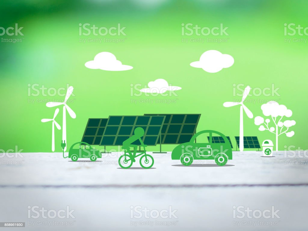 ecology clean energy concept stock photo