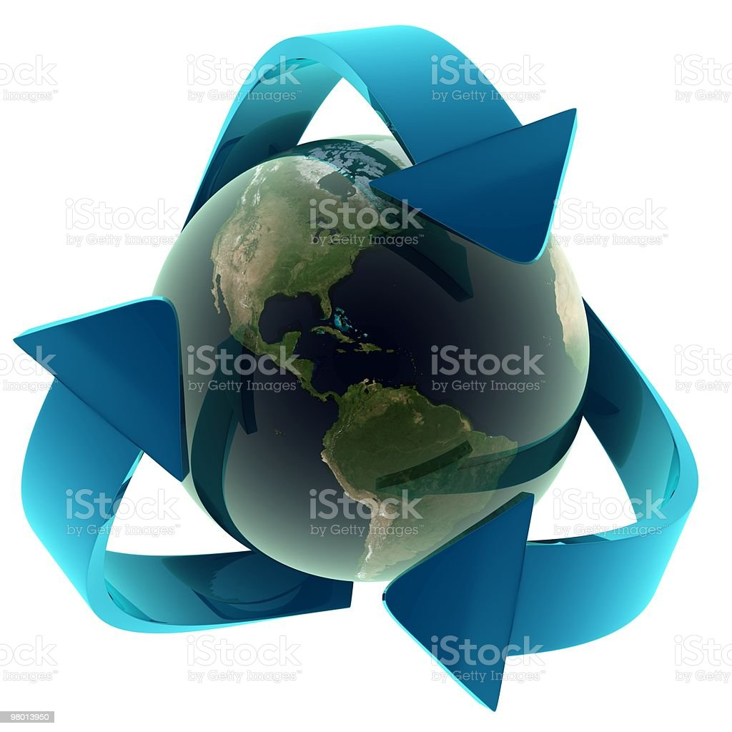Ecology Concept (blue) royalty-free stock photo