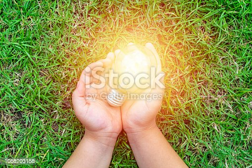 istock Ecology energy concept. Electric power is essential to life. 1058203158