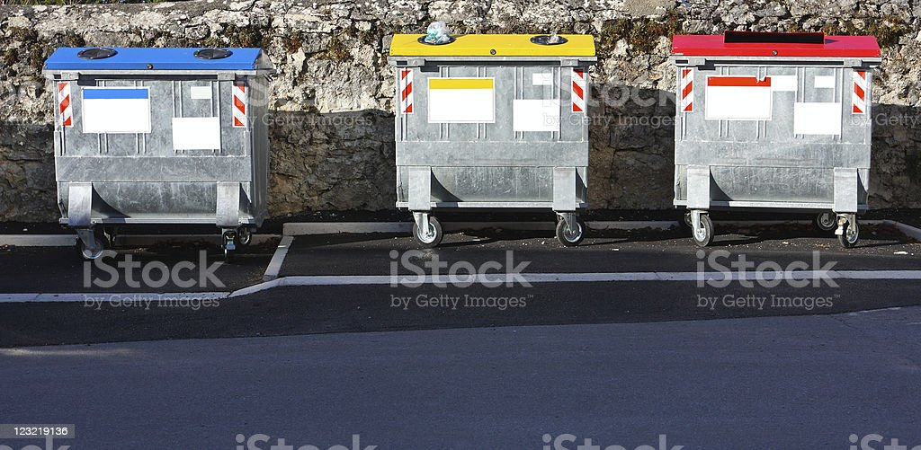 Ecology, garbage sorting royalty-free stock photo