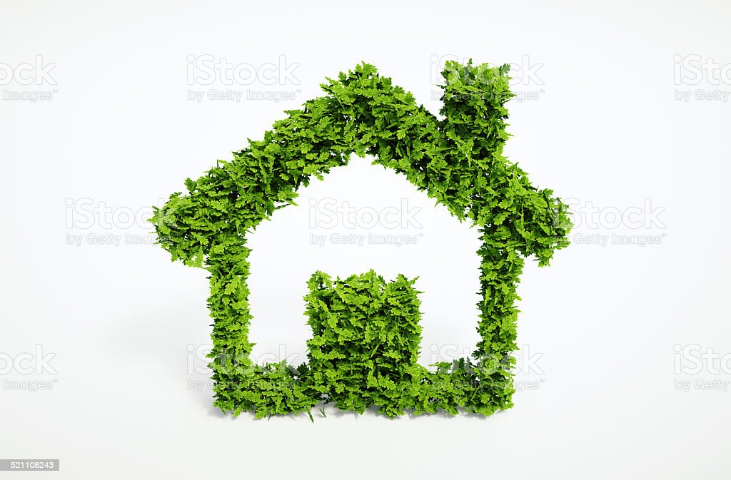 ecology independent home symbol stock photo