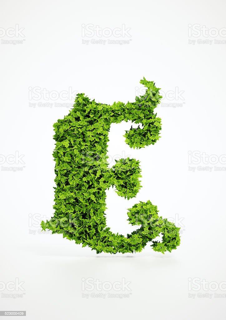 Ecologia Lettera E Simbolo Con Sfondo Bianco Fotografie Stock E