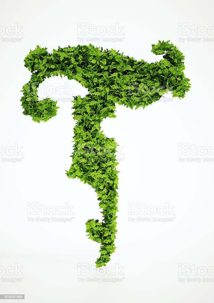 Ecology letter  T symbol with white background stock photo