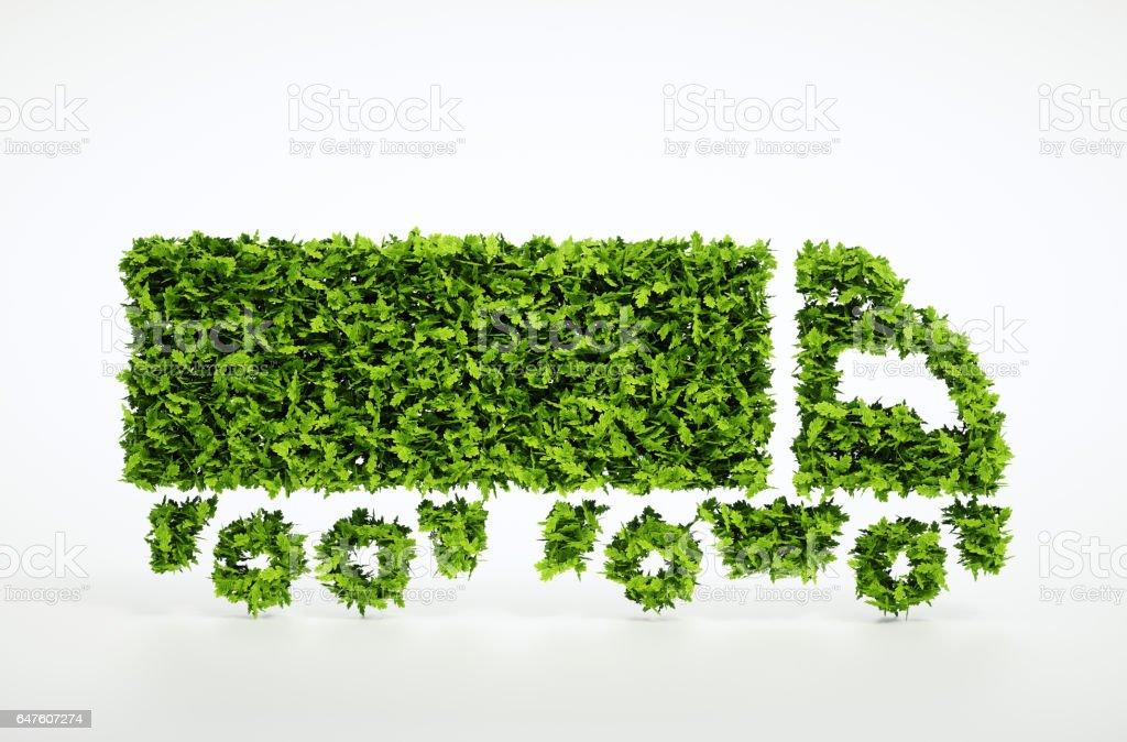 Ecology logistics concept. stock photo