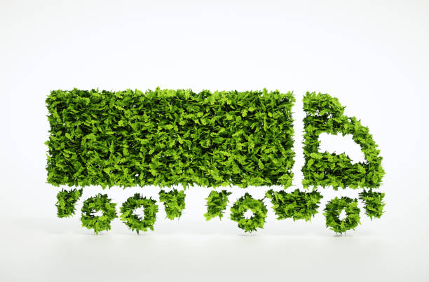 ecology logistics concept. - transportation icons stock photos and pictures