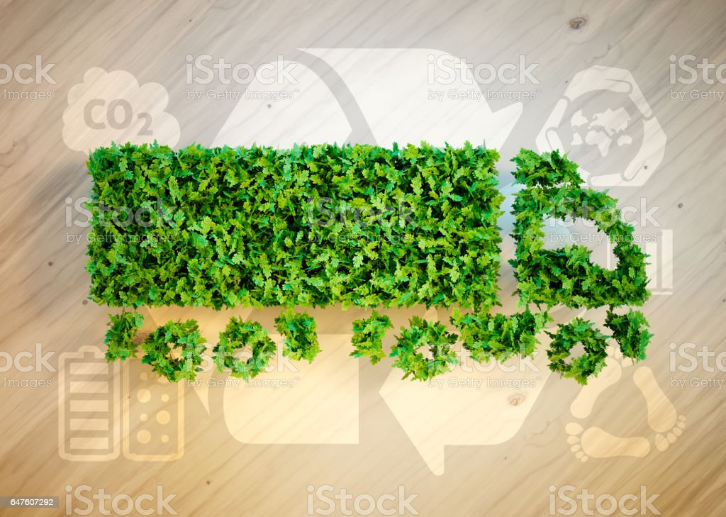 Ecology logistics concept. stock photo