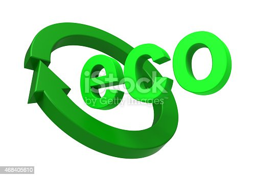499093370 istock photo Ecology sign isolated over white. 468405610