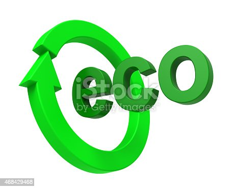 499093370 istock photo Ecology sign isolated over white. 468429468