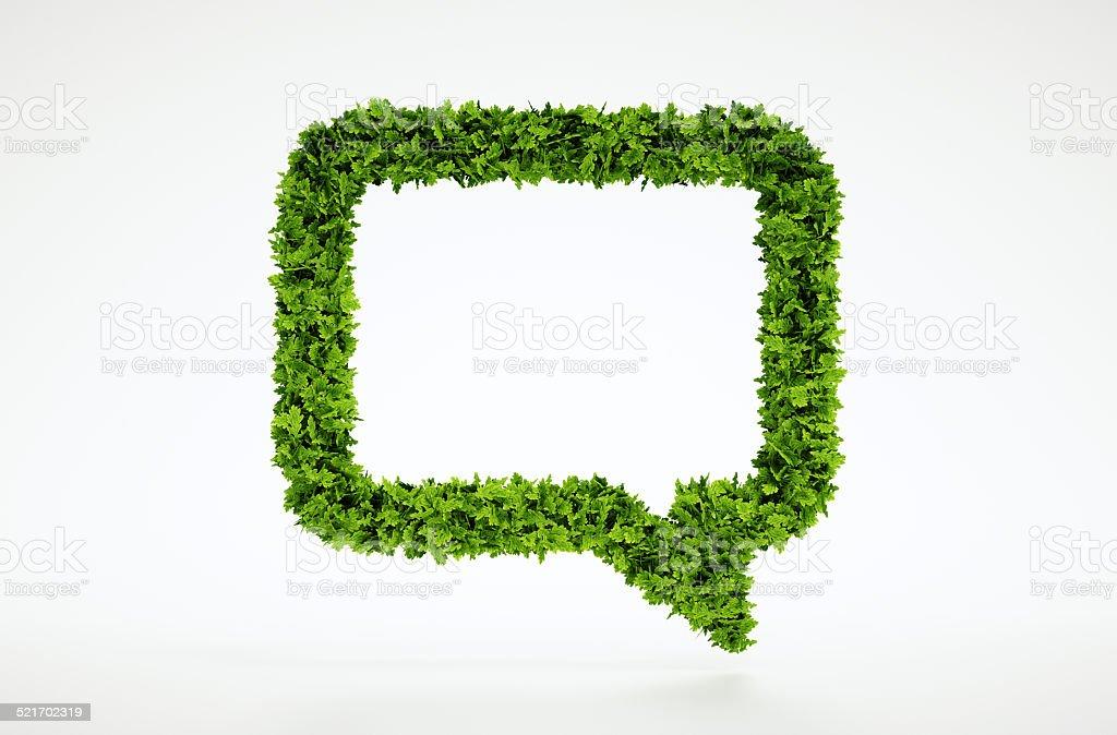 Ökologie Sprechblase-symbol – Foto