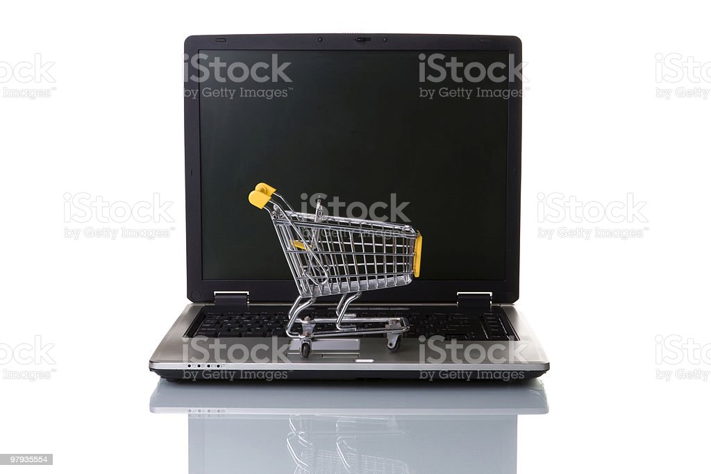E-commerce concept royalty-free stock photo