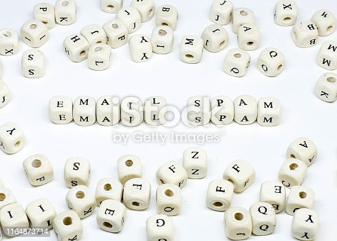 ecommerce email blogging online advertising and social media marketing term wooden abc email spam