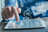 istock e-commerce, financial concept, online business profit 1053155616