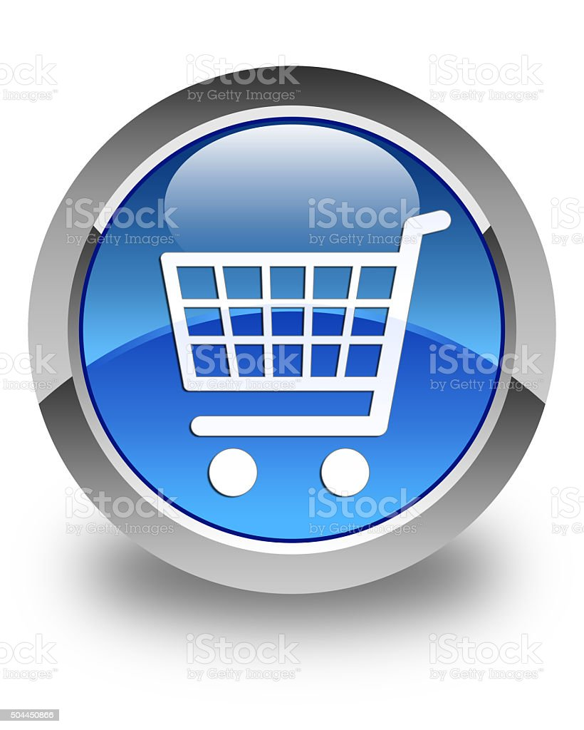 Ecommerce icon glossy blue round button 2 stock photo