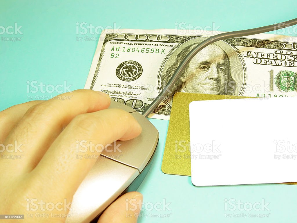 e-commerce / money credit card royalty-free stock photo