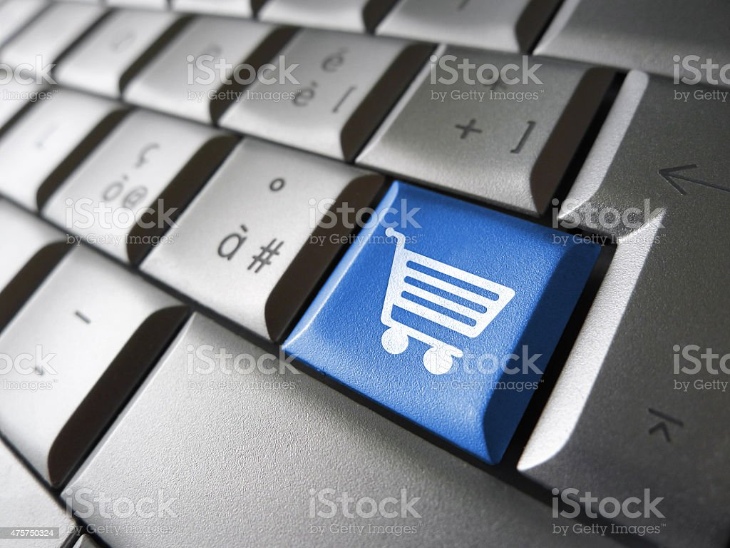 Ecommerce Online Shopping Concept stock photo