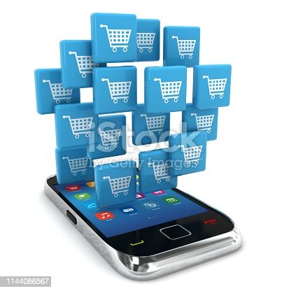 istock E-commerce online shopping marketing mobile phone 1144086567