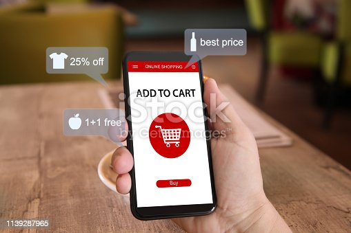 istock E-commerce online shopping marketing supermarket mobile phone 1139287965