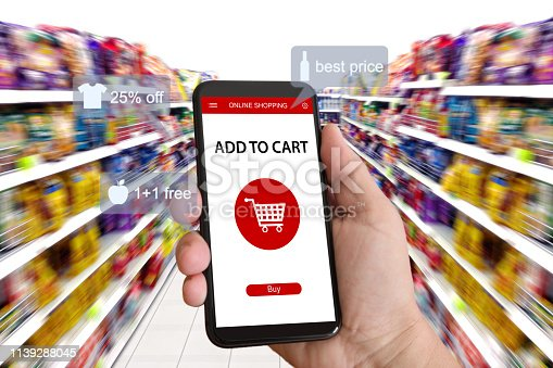 istock E-commerce online shopping marketing supermarket mobile phone 1139288045