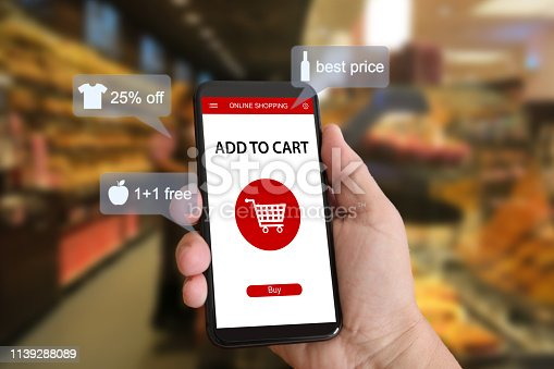 istock E-commerce online shopping marketing supermarket mobile phone 1139288089