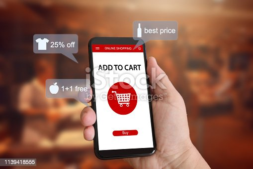 istock E-commerce online shopping marketing supermarket mobile phone 1139418555