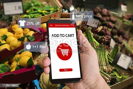 istock E-commerce online shopping marketing supermarket mobile phone 1139418602