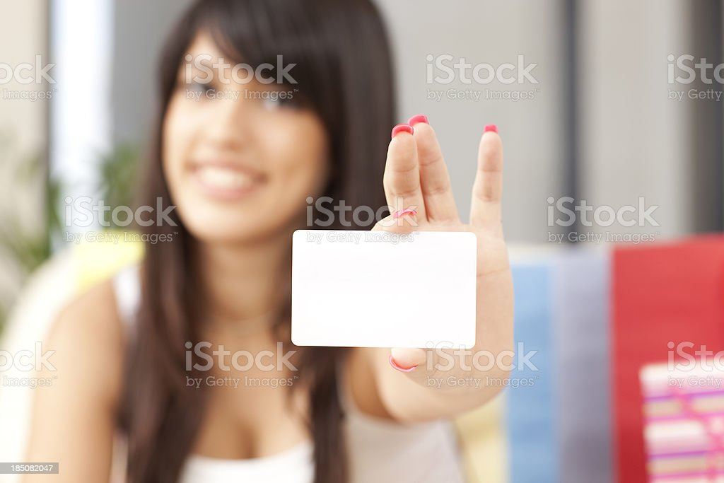 Ecommerce shopping card. stock photo