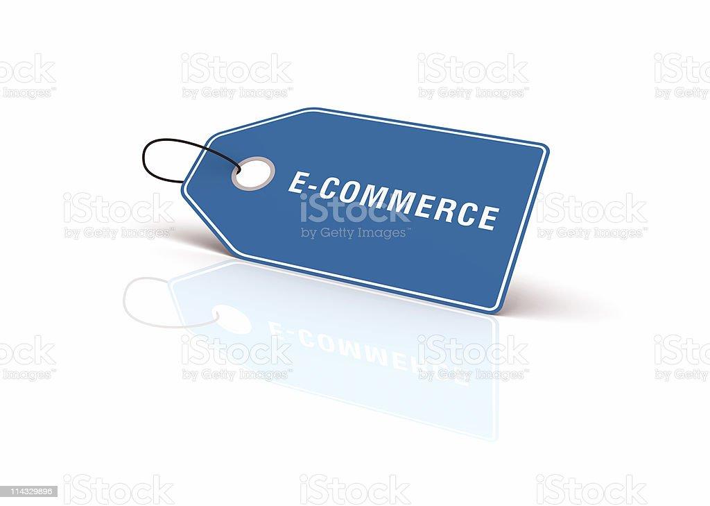 E-commerce Shopping Tag royalty-free stock photo