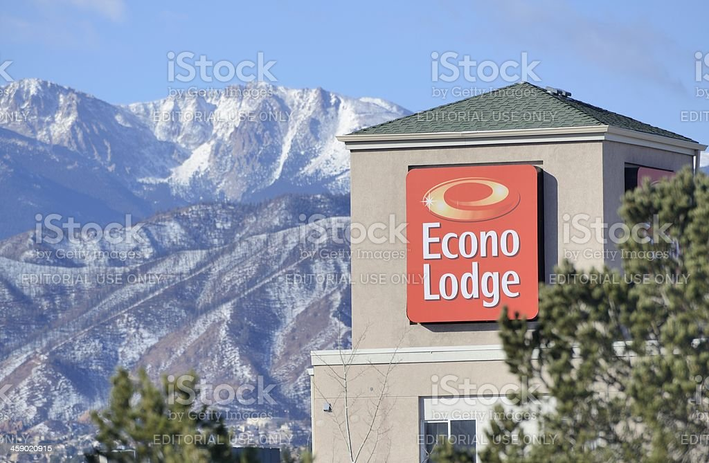 Econo Lodge royalty-free stock photo