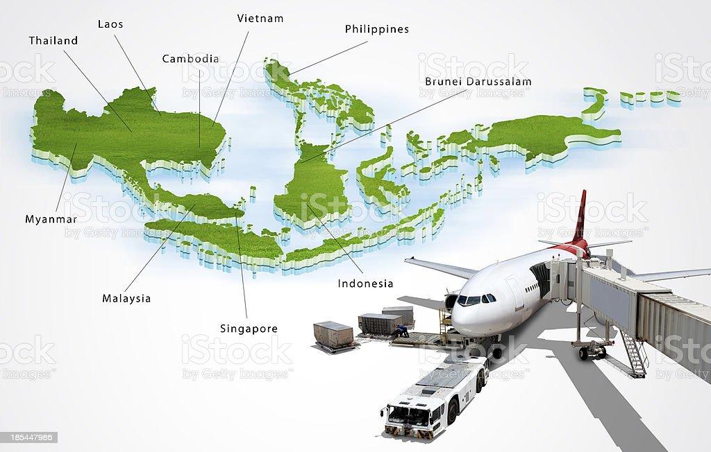 ASEAN Economic Community, AEC, concept stock photo